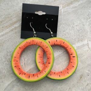 Jewelry - Watermelon Hoop Earrings